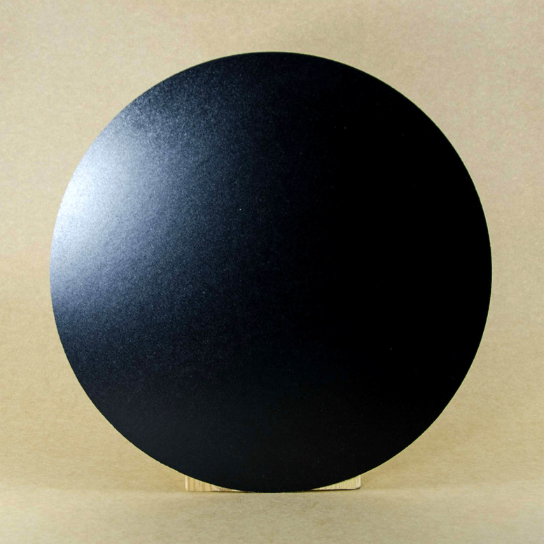 Поднос черный D35 ДВП круглый (торец дерево)