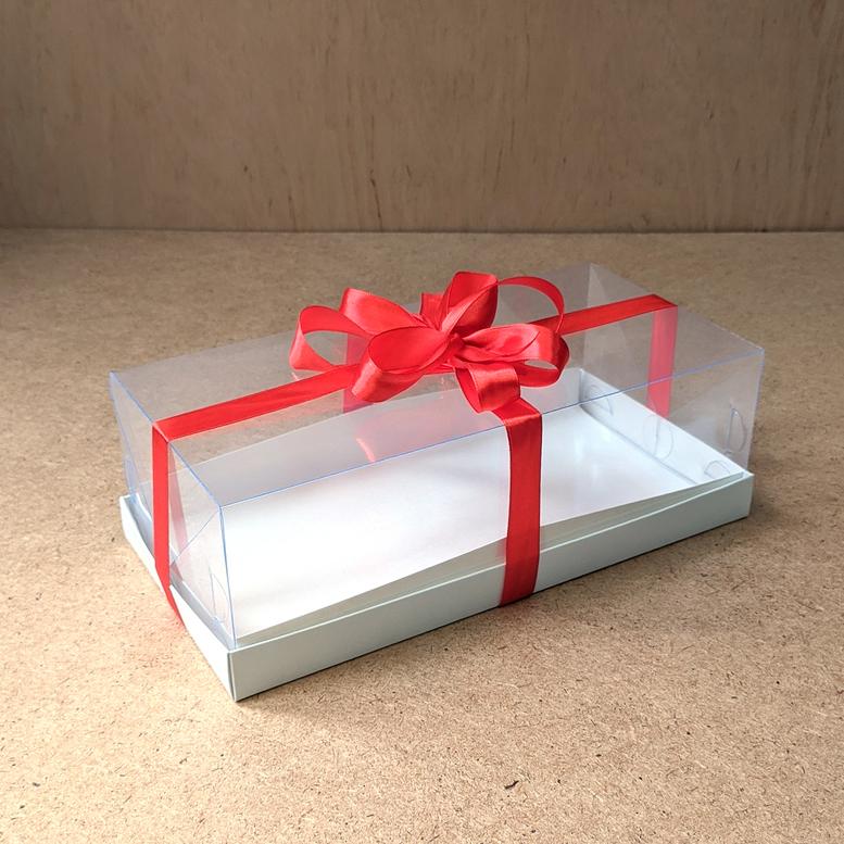 Коробка для торта 300х150х100 (для рулета/ПЭТ)
